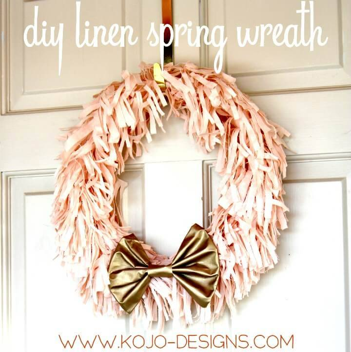 How to Make Spring Wreath In Pink And Gold Tutorial