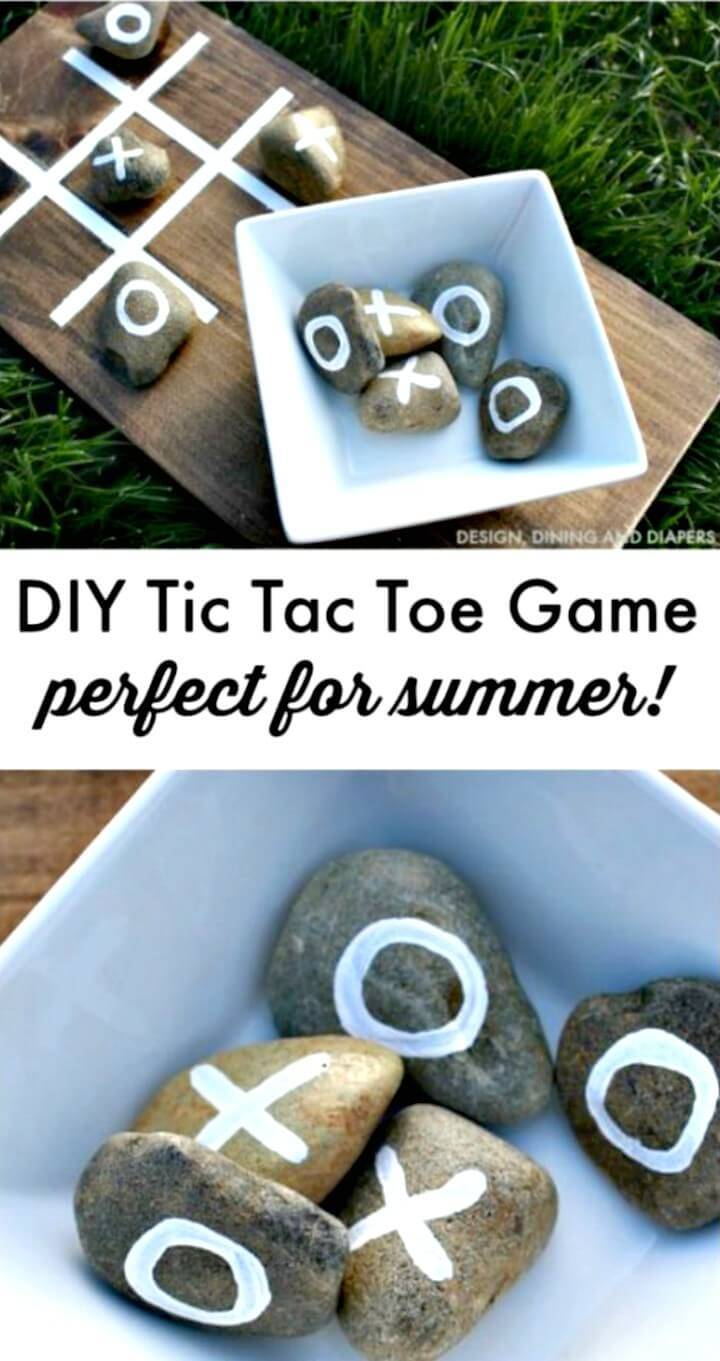 DIY Tic Tac Toe Game Perfect For Summer