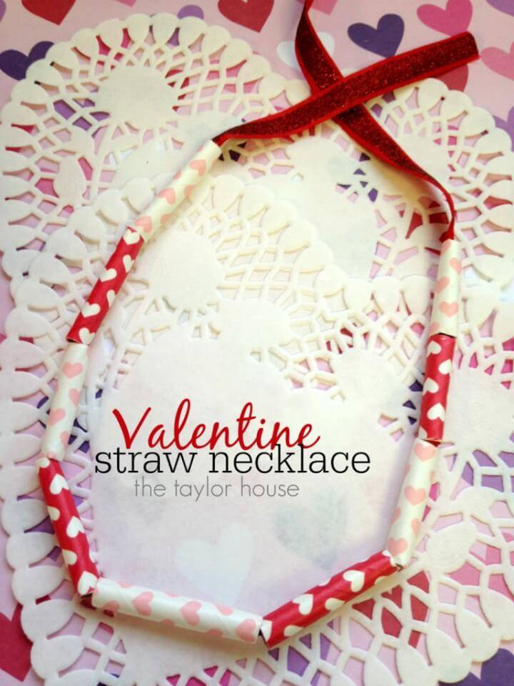 How to DIY Valentine Kids Necklace Craft