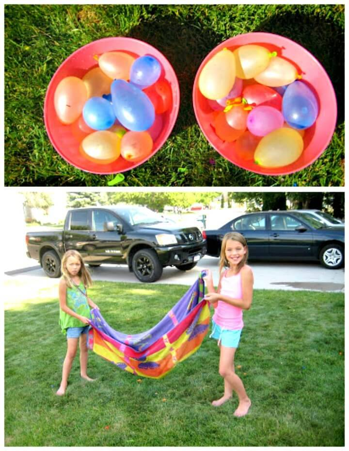 How to Make Water Balloon Towel Toss Game - DIY
