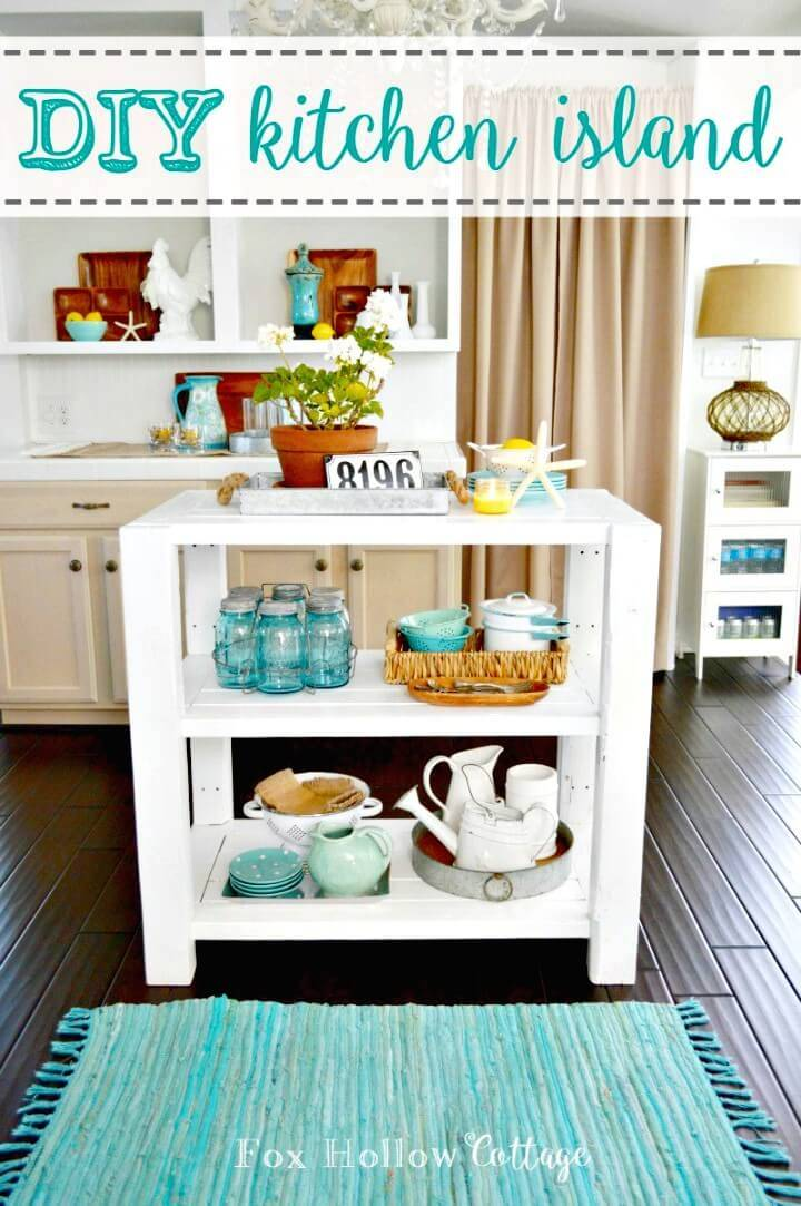 How to Make White Wood Cottage Kitchen Island