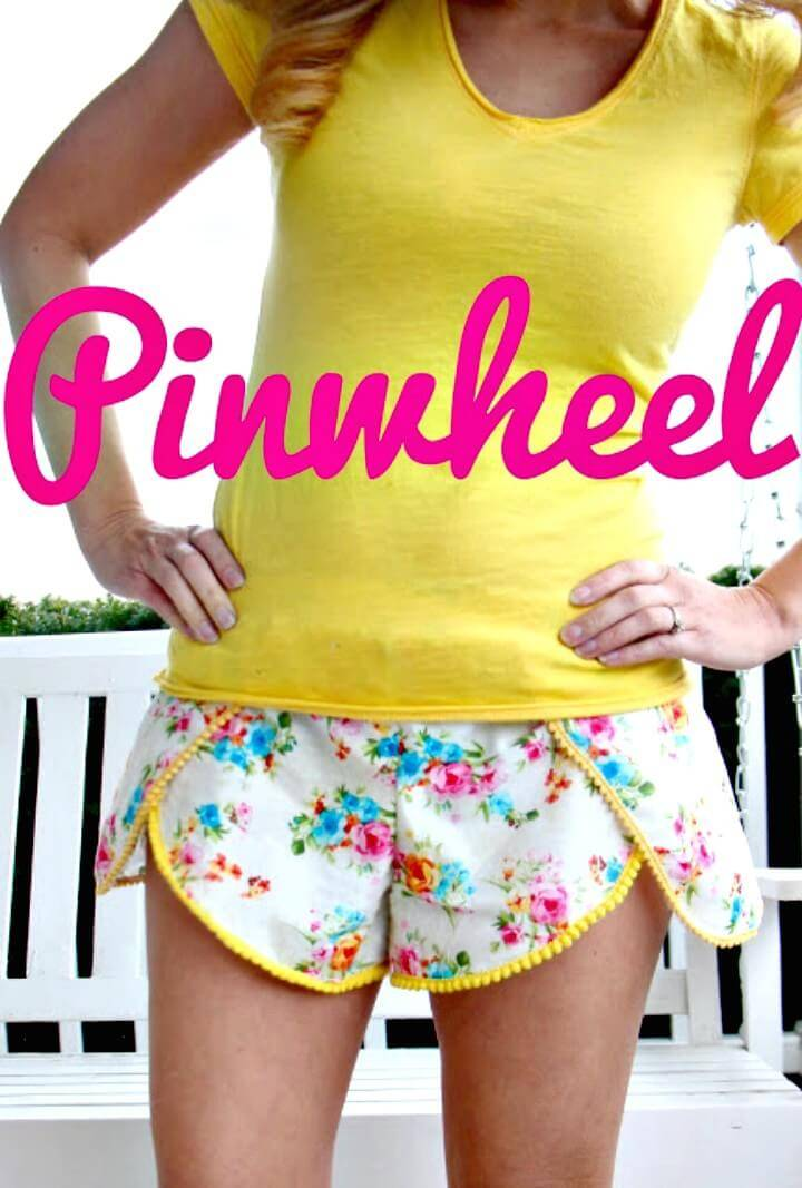 DIY Wild Flower Pinwheel Shorts