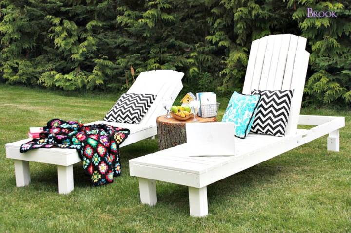 DIY Wood Garden Chaise Lounges for $35 - Garden Furniture Ideas