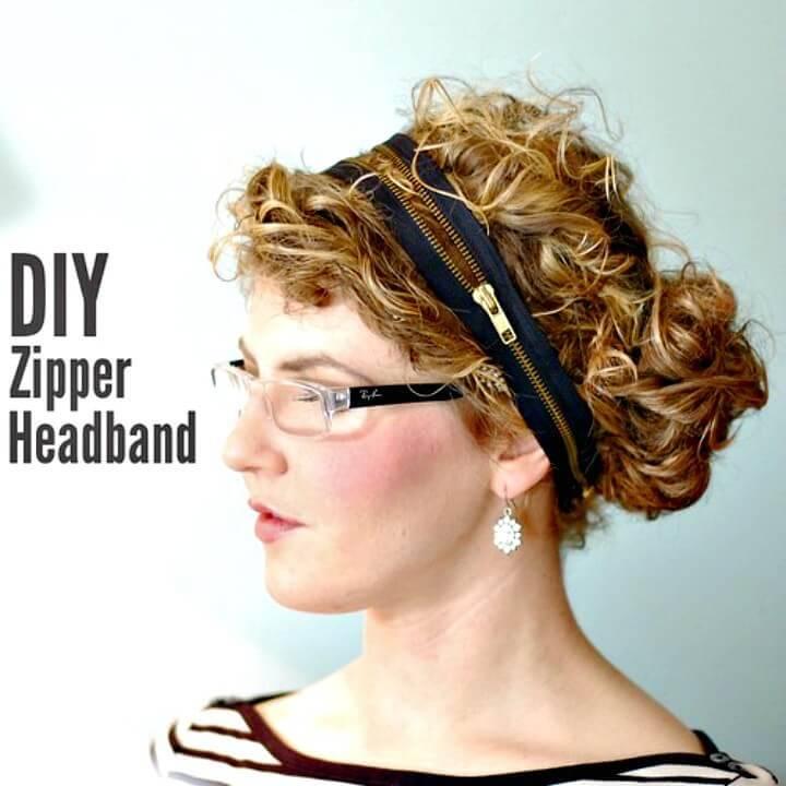 DIY Zipper Headband Tutorial