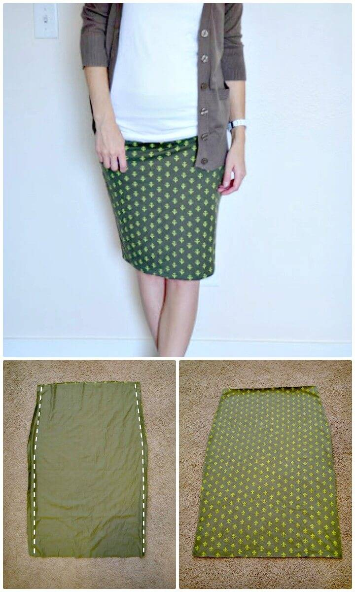 How to Sew Pencil Skirt - Easiest DIY P Tutorial