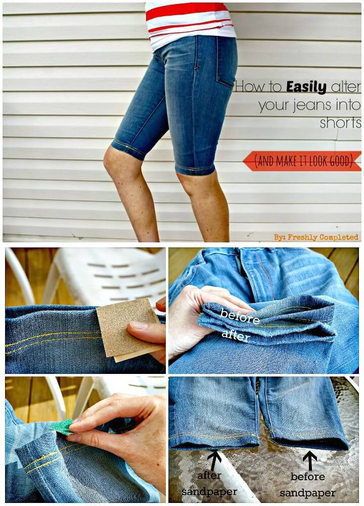 Easily Alter Your Jeans Into Shorts