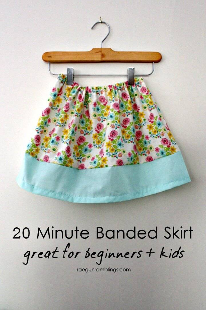 Fast DIY Basic Band Skirt In 20 Minute