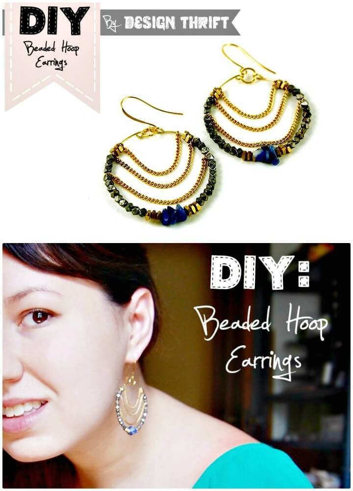 Easy DIY Beaded Hoop Earrings