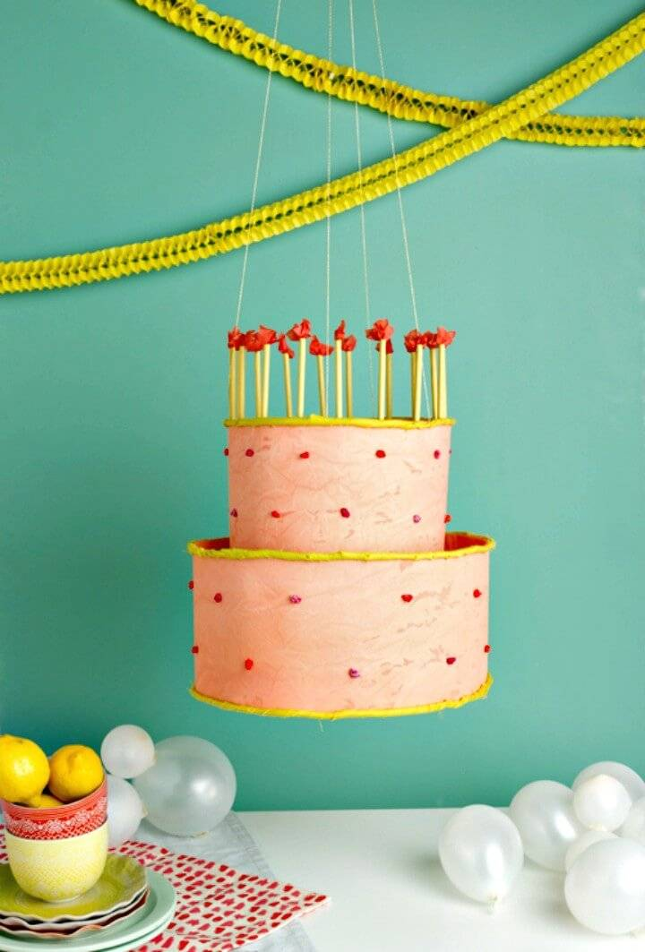 Easy DIY Birthday Cake Chandelier