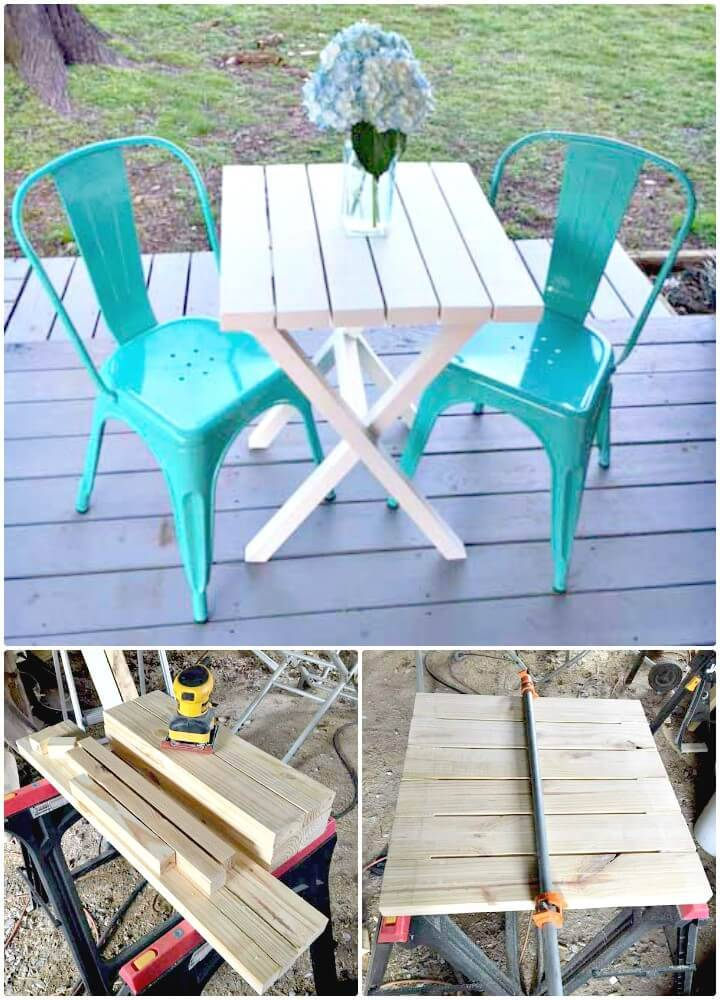 DIY Bistro Table Building Plans Under $15 for Your Backyard
