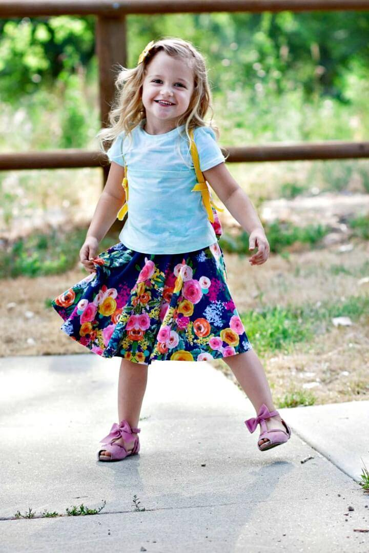 Quick DIY Circle Skirt Sewing for Your Kids
