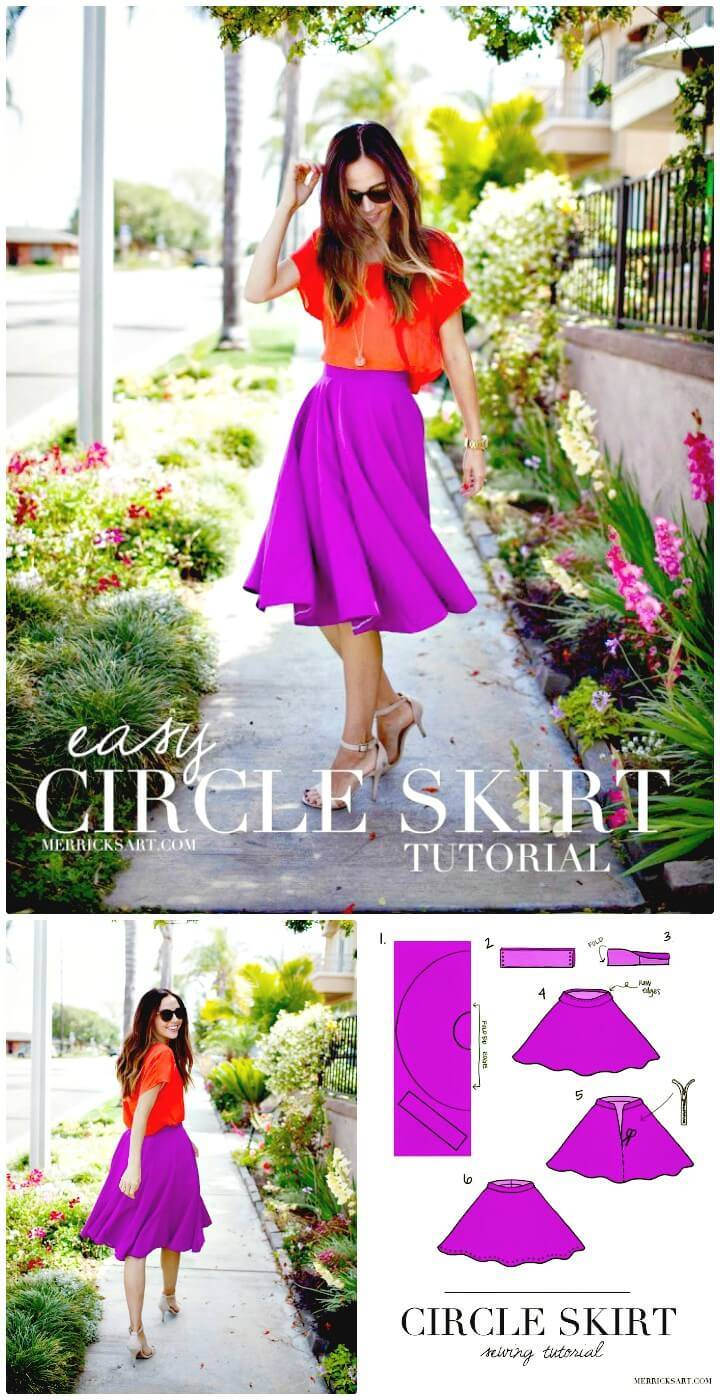 Beautiful How to Make Circle Skirt - DIY
