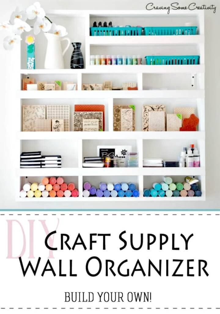 Easy DIY Craft Supply Wall Organizer