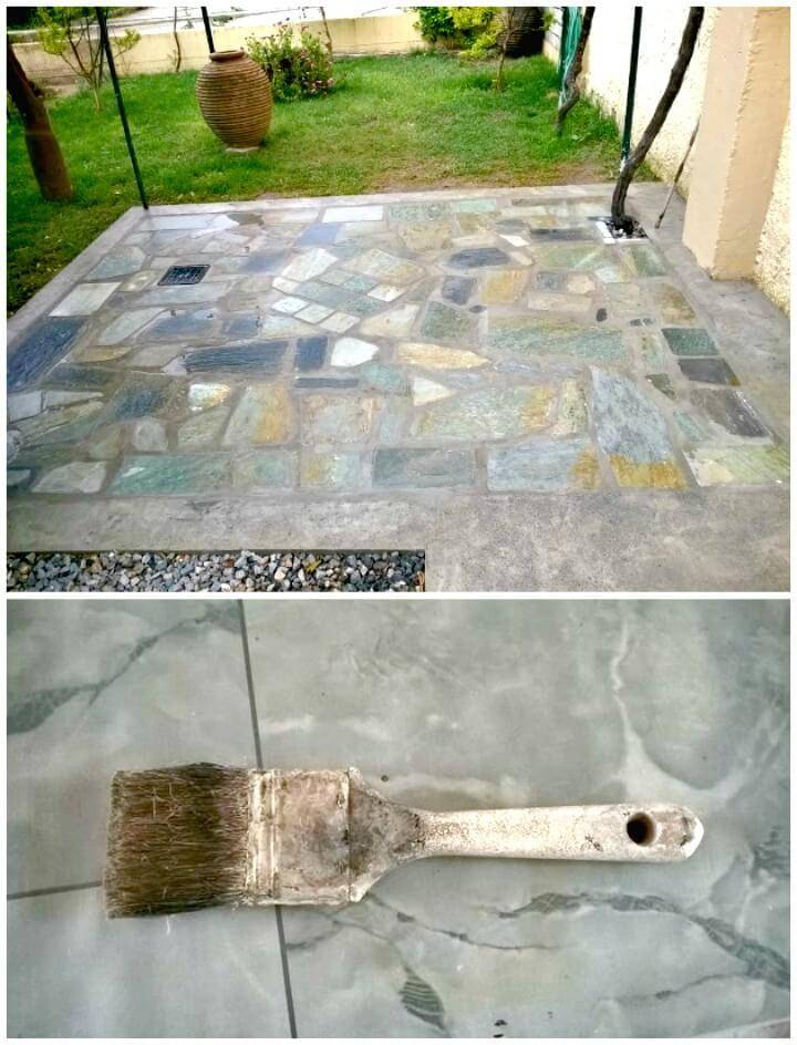 Make Your Own Custom Flagstone Backyard Patio - DIY