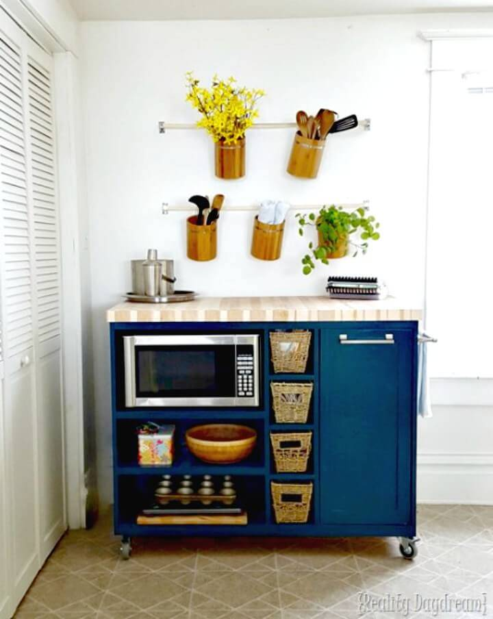 How to Build Custom Rolling Kitchen Island