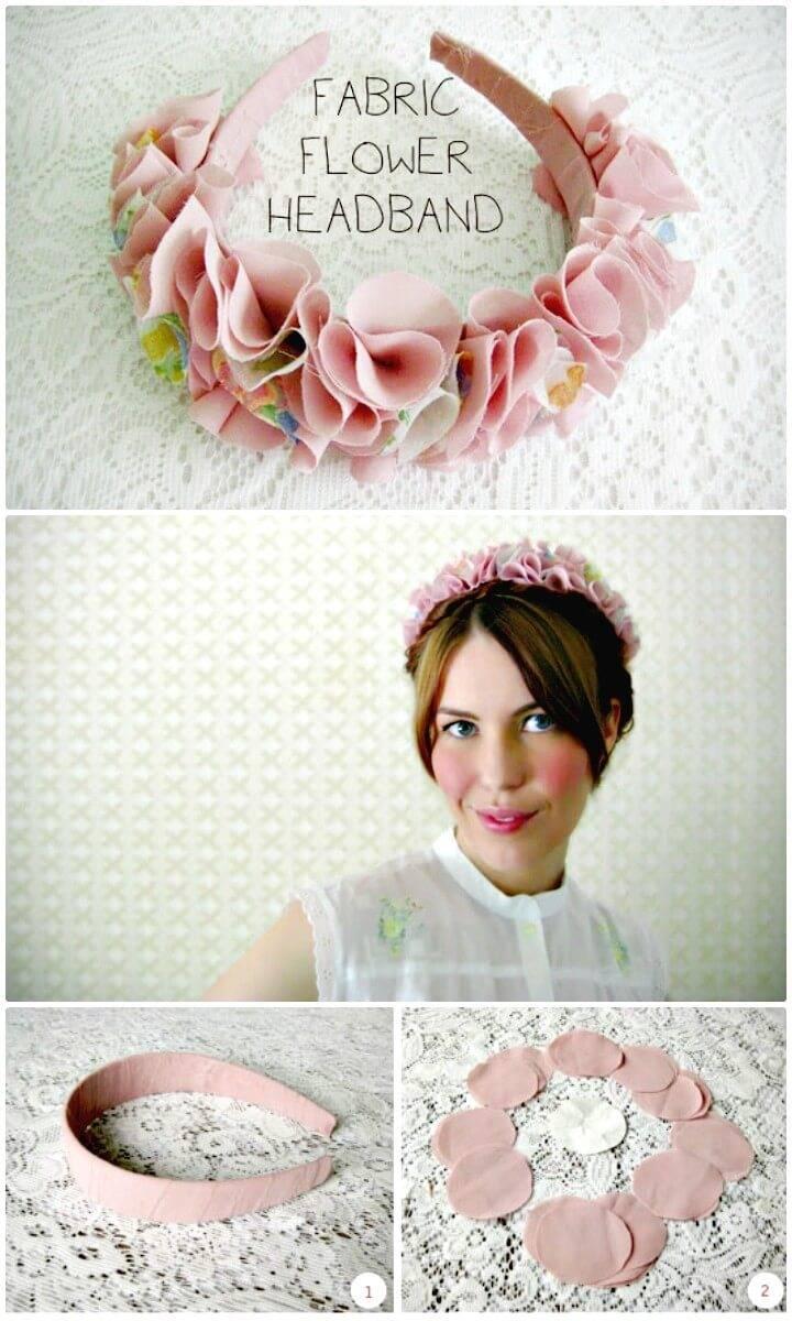 How to Make Fabric Flower Headband