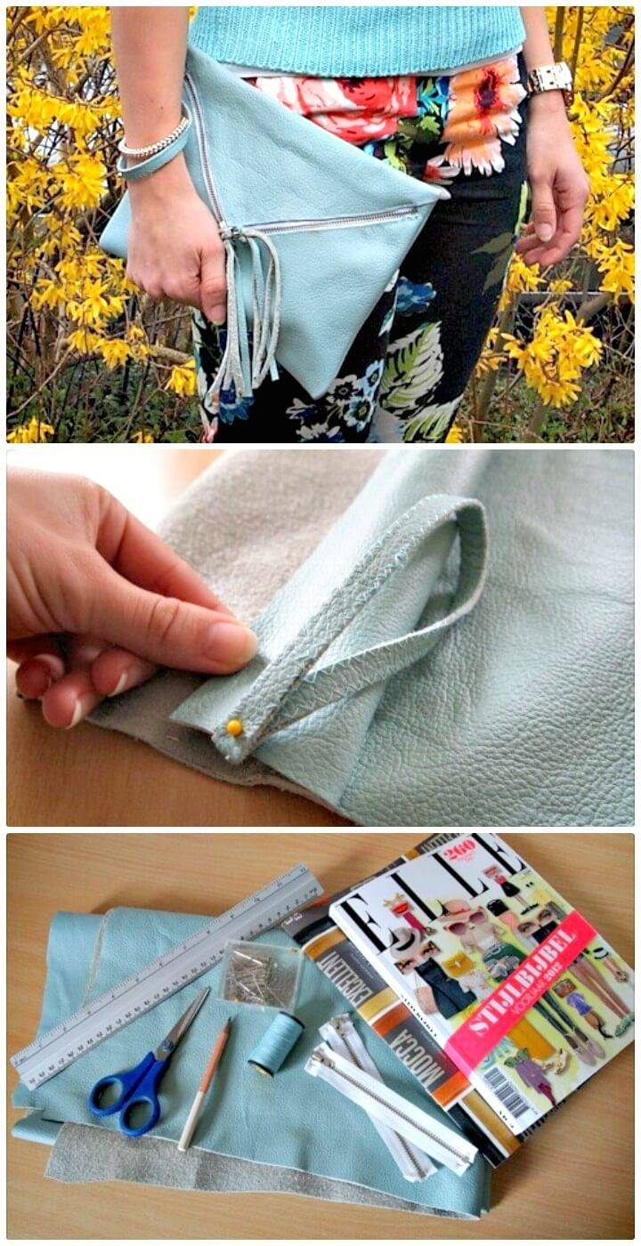 Easy DIY Fashionable Clutch Tutorial