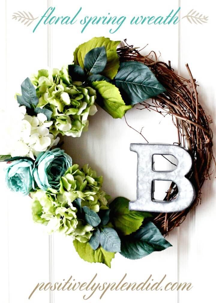 Make Your Own Floral Spring Wreath - DIY