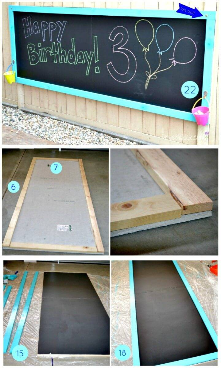 Easy DIY Giant Backyard Chalkboard