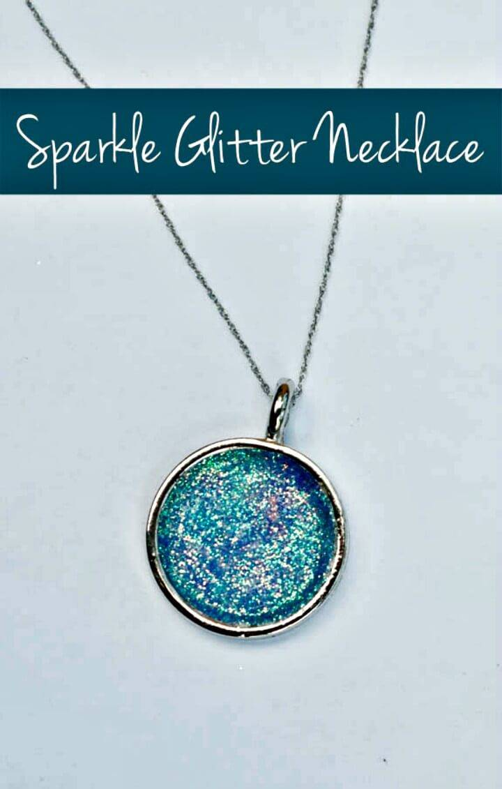 How to DIY Glitter Necklace