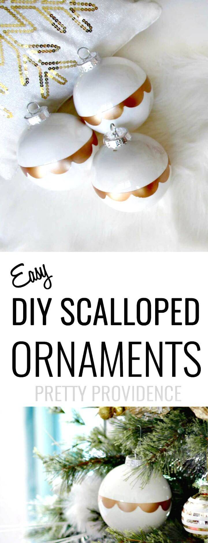 How to Make Gold Scalloped Ornaments Tutorial