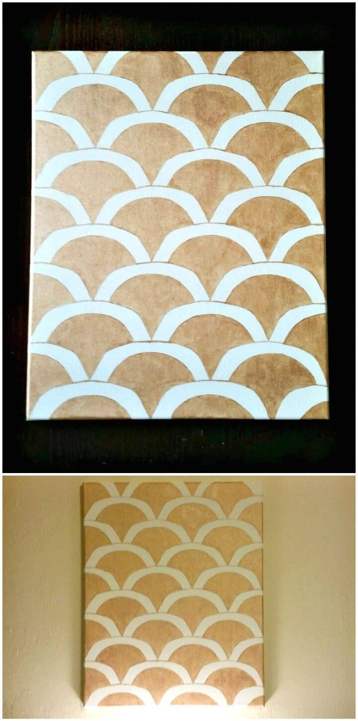 How to Make Gold Scalloped Wall Art Tutorial