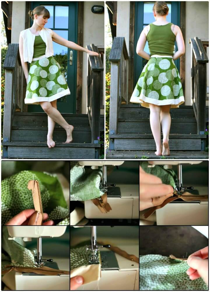 Easy DIY Hemless A-line Skirt Tutorial