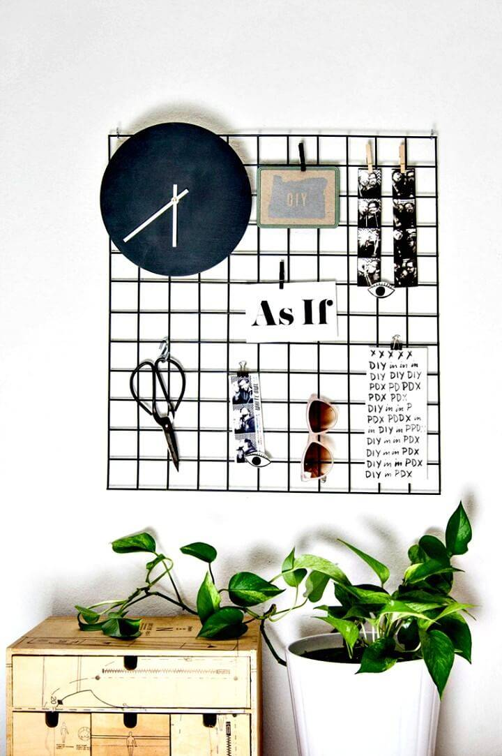 Easy to DIY Metal Wall Grid