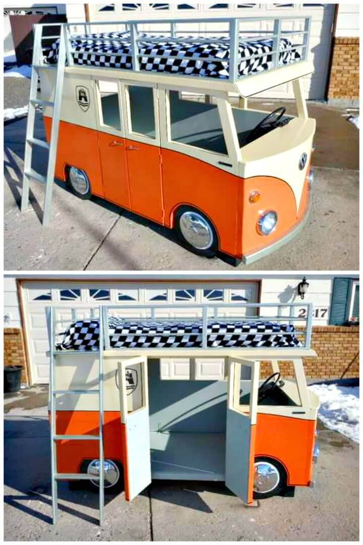 Easy DIY Micro Bus Bunk Bed