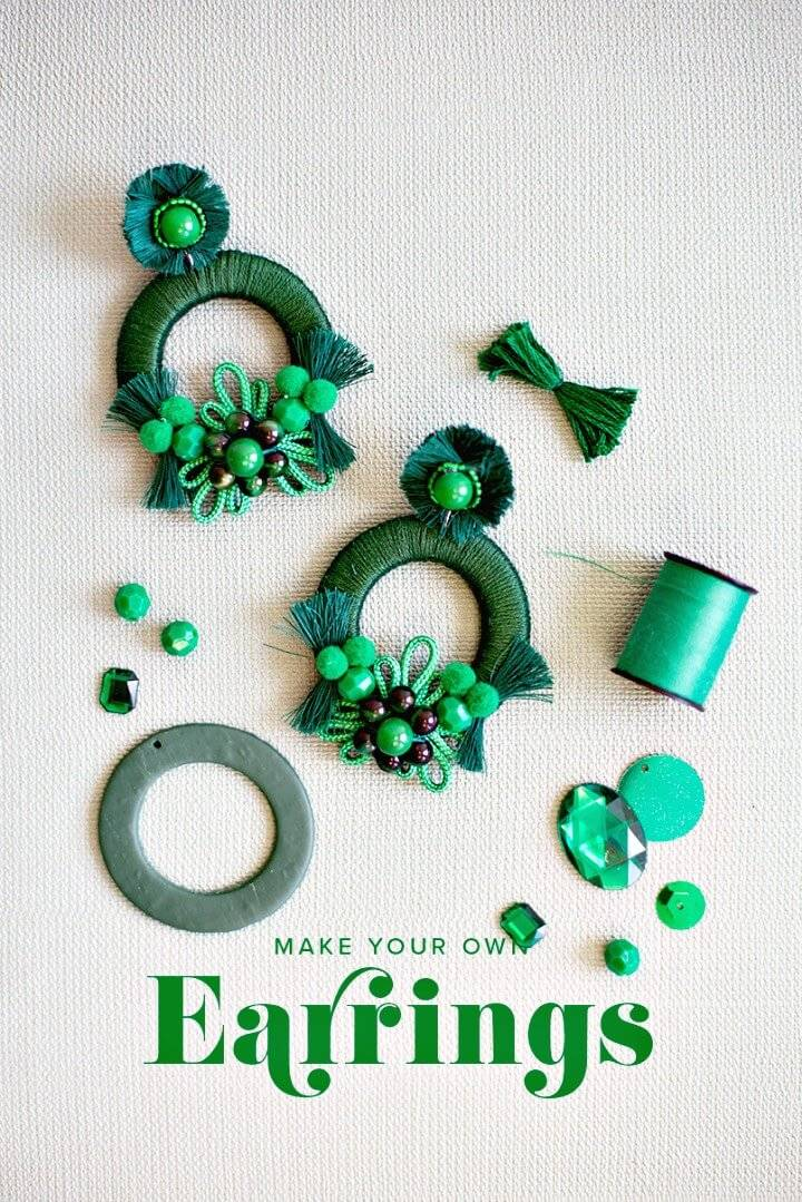 Easy DIY Mixed Media Earrings