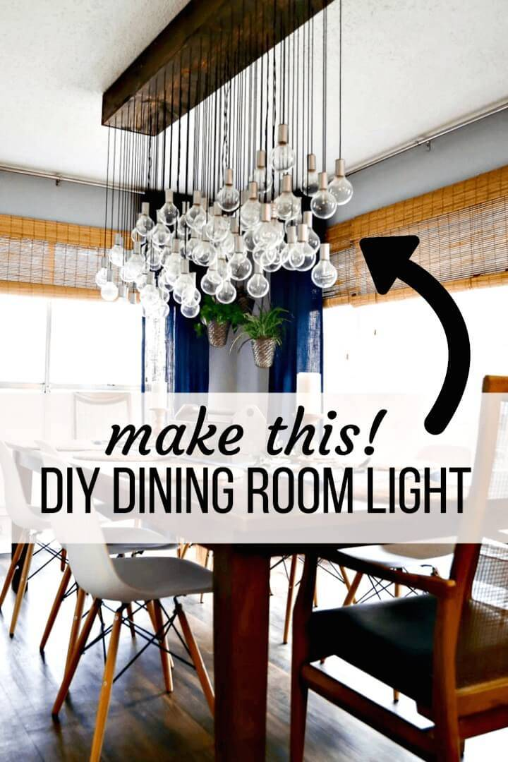 Multi-Bulb Dining Room Chandelier - DIY