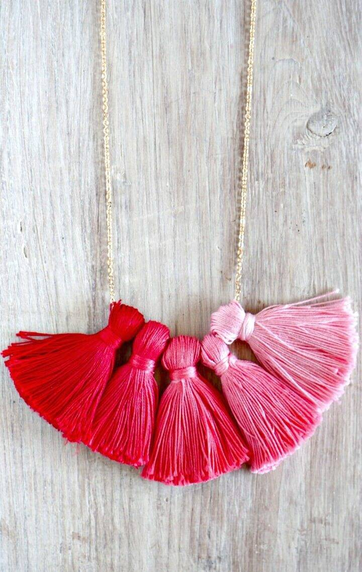 Easy DIY Ombre Tassel Necklace