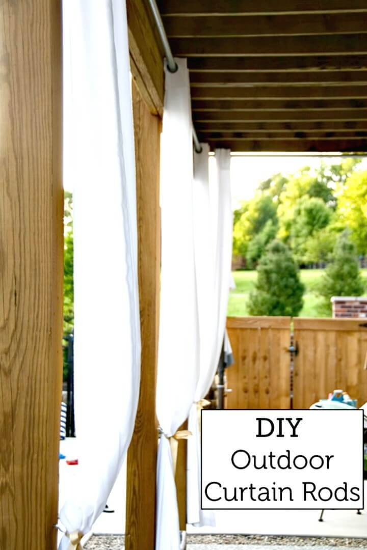 How to Make an Outdoor Curtain Rods - DIY