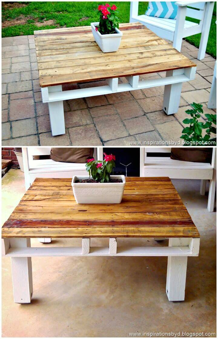 Easy DIY Outdoor Pallet Table - Patio & Porch Decor Ideas