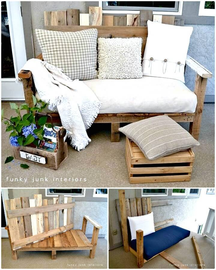 DIY Pallet Wood Sofa for Backyard - Try Out This Spring & Summer