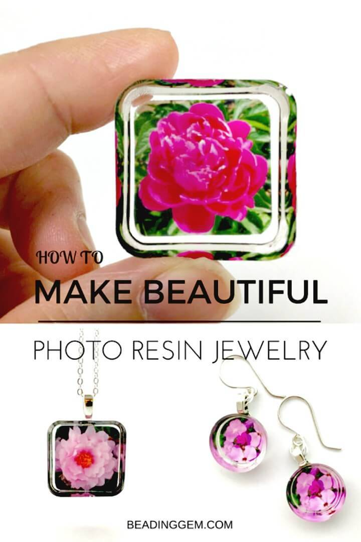 Easy DIY Photo Resin Earrings