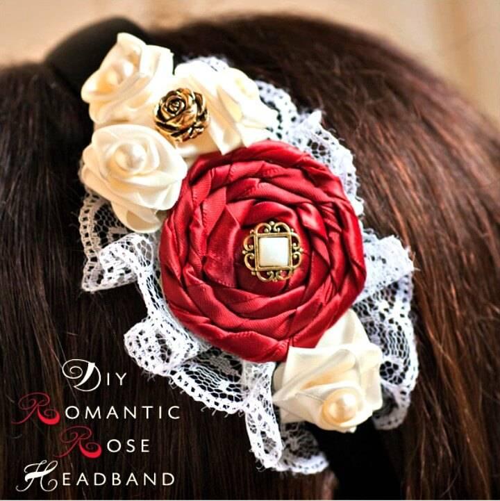 Beautiful DIY Romantic Rose Headband