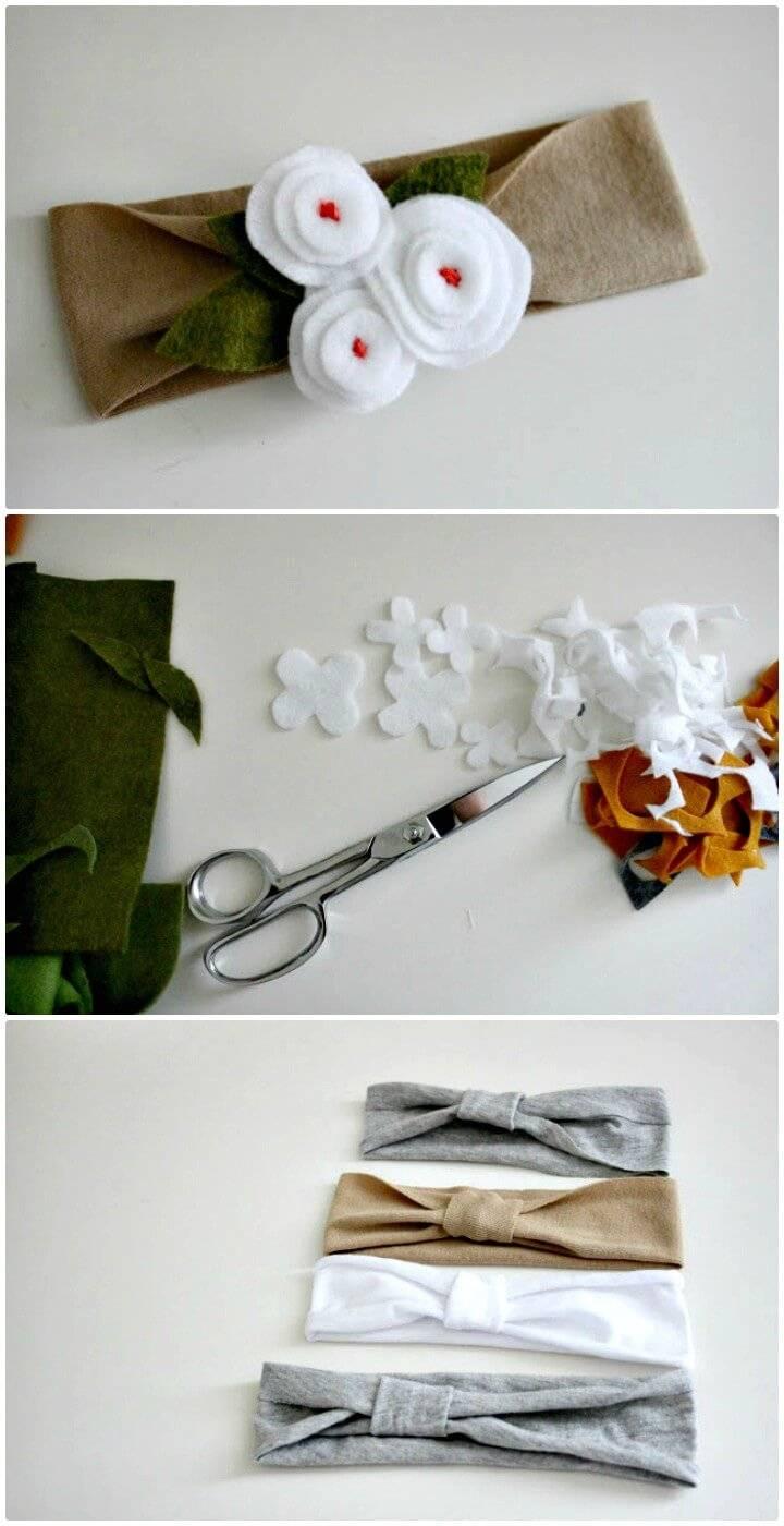 How to Make Scrappy Baby Headband