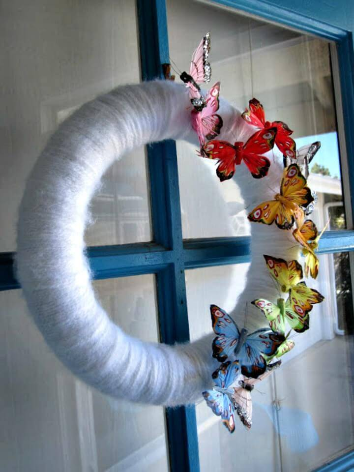 How to Make Spring Butterfly Wreath - DIY