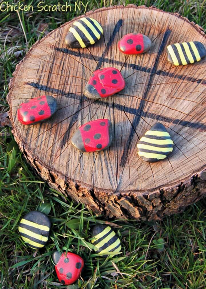 Easy DIY Spring Time Tic-Tac-Toe Game