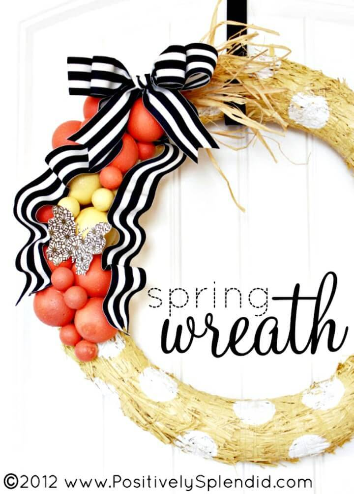 Make Your Own Spring Wreath Tutorial
