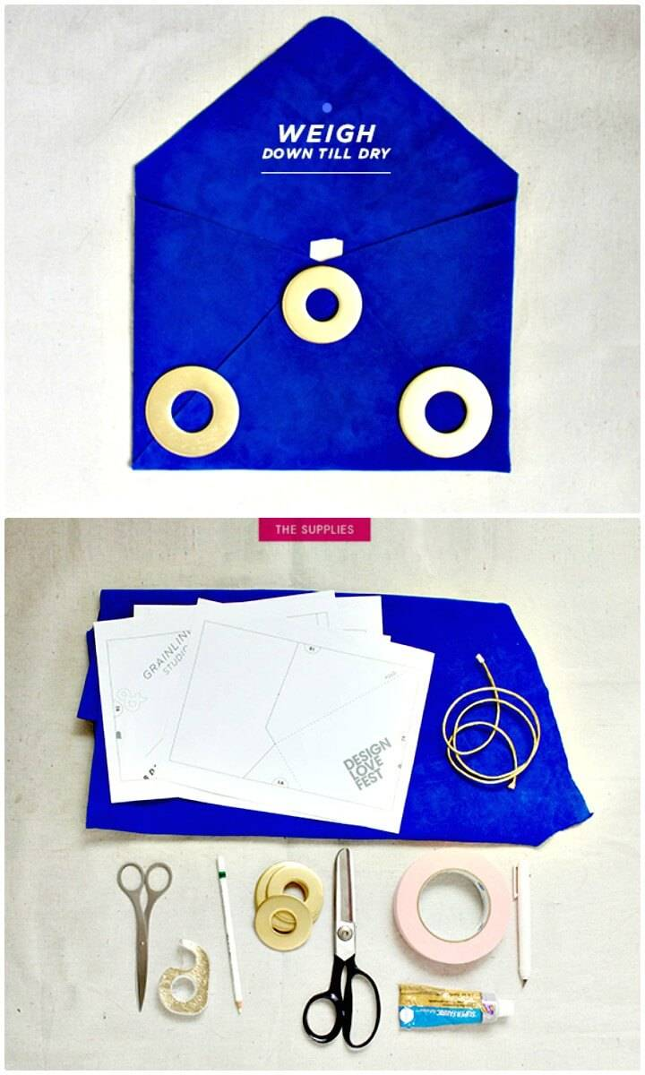 Easy DIY Suede Envelope