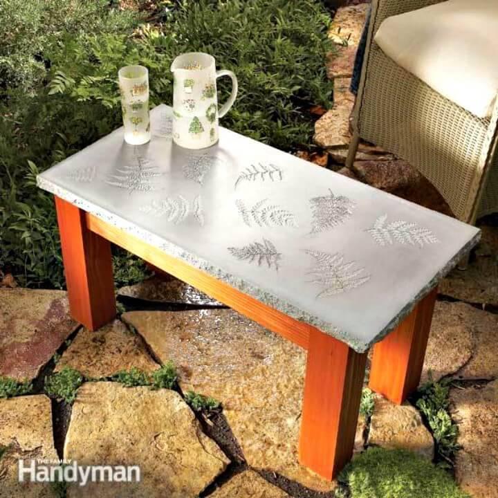 Easy DIY Table with a Concrete Top - Garden Furniture Ideas