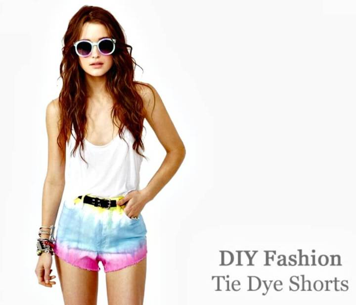 Easy DIY Tie Dye Shorts Fashion