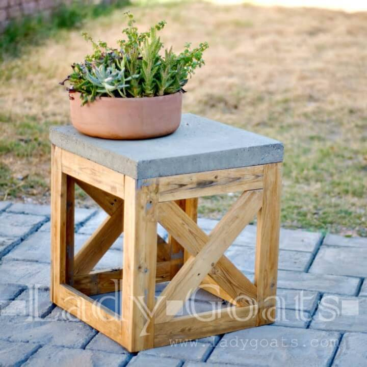 How to DIY X-Stool or Table for Your Backyard