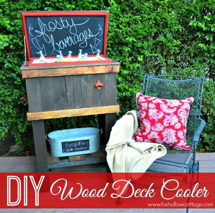 How To Build A Wood Deck Cooler - DIY