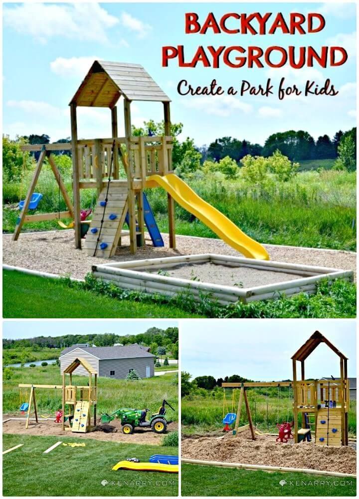Adorable How To Build Backyard Playground - DIY