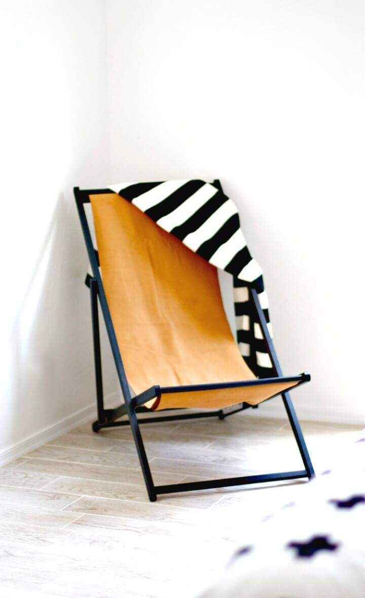 Easy to Build Leather Chair - DIY