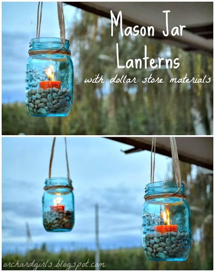 How To Build Mason Jar Lanterns - DIY Backyard Ideas