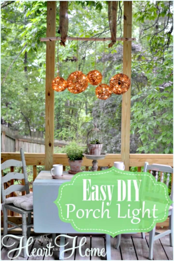 Easy DIY Porch Light for Your Backyard